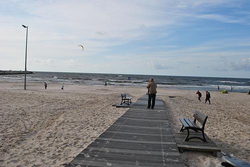 Ustka plaża zdjęcie