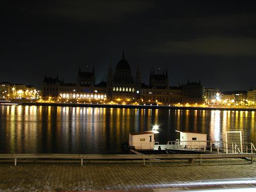 Węgry Budapeszt nocą zdjęcia