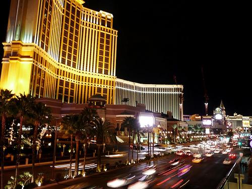 Las Vegas w nocy