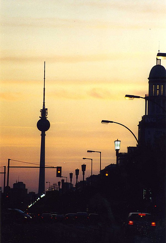 Berlin wieczorem