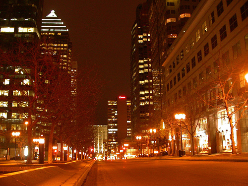 Montreal nocą