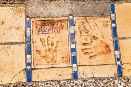 Cannes - odciski rąk