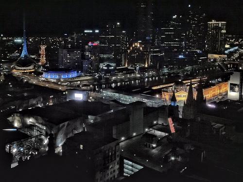 Melbourne nocą