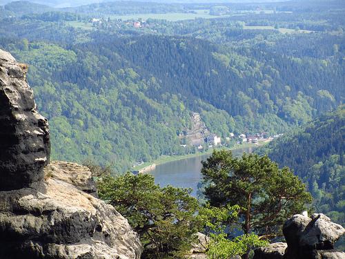 Saska Szwajcaria - widok z gór