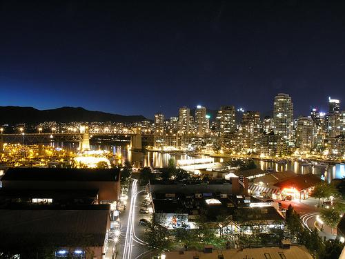 Vancouver nocą
