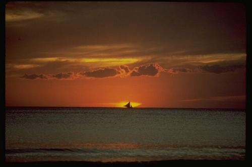 Filipiny - zachód słońca