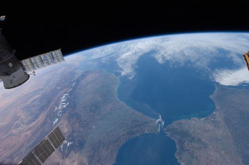Hiszpania, widok z satelity