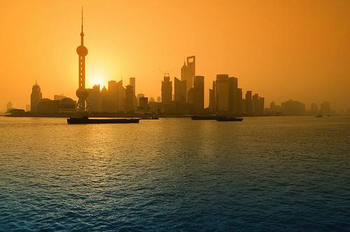 Shanghai, wschód słońca