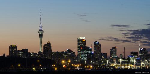 Auckland nocą